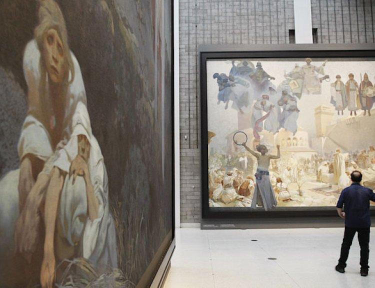 clanek_Muchova Slovanská epopej byla vloni třetí nejnavštěvovanější výstavou světa